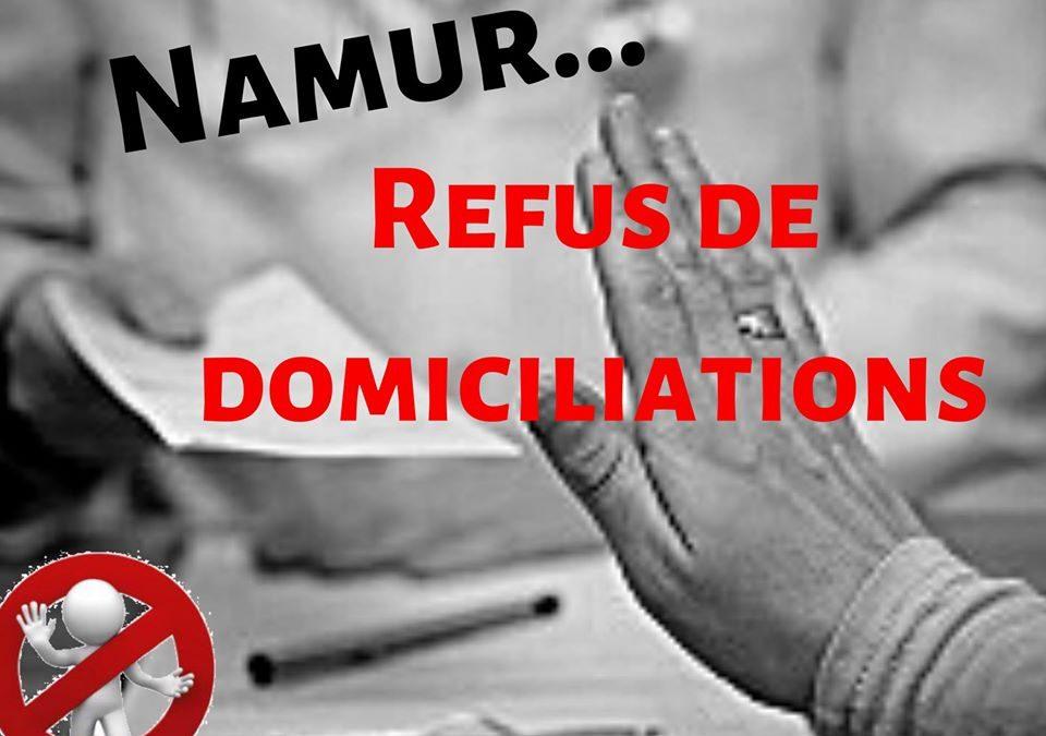 Refus de domiciliations à Namur.