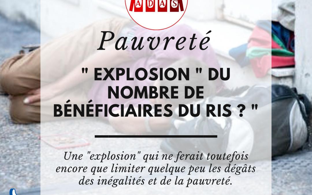 """Explosion """" du nombre de bénéficiaires du RIS"""