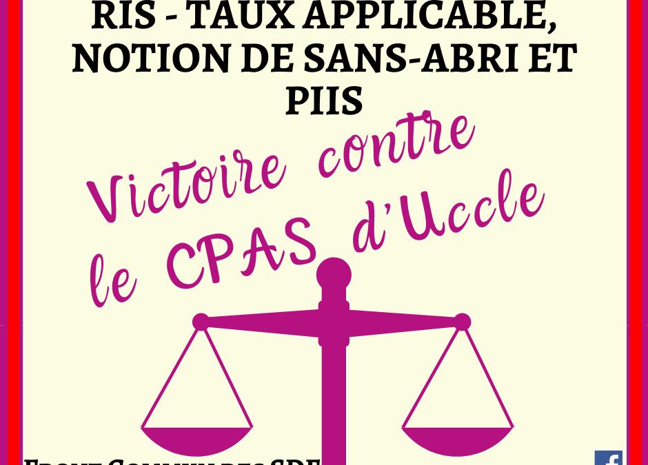"""FLASH JURISPRUDENCE : """"RIS – Taux applicable, notion de sans-abri et PIIS"""""""